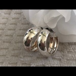 Jewelry - BOLD 925 Sterling Silver Hoop Earrings